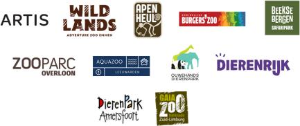 Artis, Blijdorp, Beekse Bergen, Ouwehands Dierenpark, Wildlands Adventure Zoo Emmen, Burger's Zoo